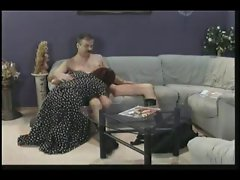 Mature Couple Oral Pleasures On A Couch