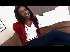 ebony teen slut bangs white cock