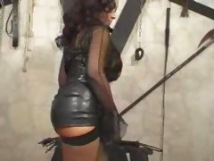 Mistress in high heels masturbates