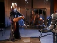 Lesbians in leather Carli Banks and Jana Cova finger fuck their dripping gashes