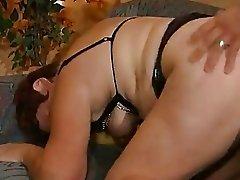 Fat mature German lady enjoys a hard cock - DBM Video