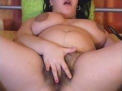 a hairy pregnant cam slut