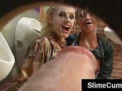 Sperm soaked sluts cummed