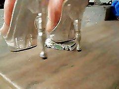 Very sexy high heels crushing toy