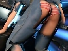 Sexy 3D girl with a perfect ass takes a huge cock for a ride