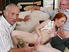 Teen slut gets gangbanged and chloe foster pov blowjob and old dad fucks