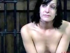 Brunette slave girl talks about her bondage experience BDSM movie