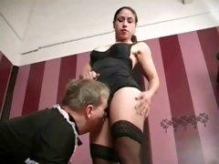 panty licking femdom