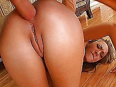 Amateur girlfriend anal fuck with huge creampie