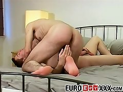 Horny Leo M and Mark W get straight to smashing butts