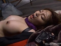 Scintillating sex scene with a Japanese slut that craves cum
