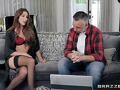 Fit secretary babe Clea Gaultier missionary pounded hardcore