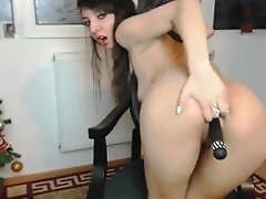 Toying in front of a webcam
