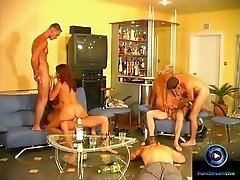 Era and  Nelli enjoyed sexy party with five hot men