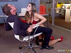 This lucky boss gets head from then fucks his red hot secretary