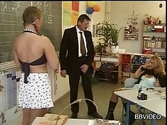 Feisty German college girl sneaks out of the classroom for some kinky sex with her teacher