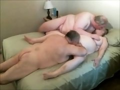 Lustful mature lovers invite a friend for a wild threesome