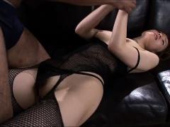 Alluring Asian milf in lingerie enjoys an intense drilling