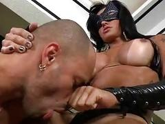 Debaucherous shemale with a fat dick inserts dick in stud