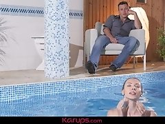 Karups - Small Breasted Stephanie Moon Fucked After Swim