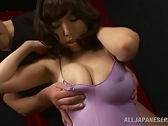 Busty Japanese babe with big tits getting hammered hardcore