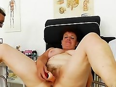 Busty cowgirl mouth fuck