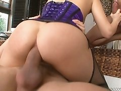 Horny stud Mike Angelo is fucking in a hardcore double penetration action in a threesome video