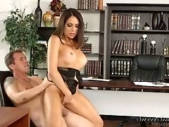 Jaclyn Taylor has sexy tan lines and she is one sex starved business lady