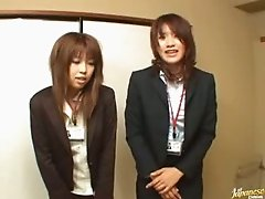 Japanese Office Ladies Licking Pussy To Say Good Morning