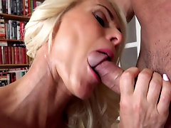 Dyana Hot gets her pierced pussy eaten by her boss on the table