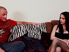 Sasha Rose cannot resist a handsome man's engorged boner