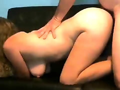 Stacked amateur milf braces herself for an intense fucking