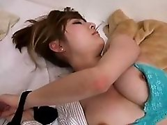 Horny Dude Fucks and Creampies a Naturally Busty Sleeping Asian Beauty