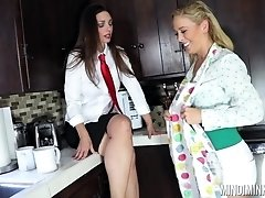 Incredible lesbian face sitting and feet sucking with Cherie Deville