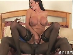Black cock for insatiable brunette Ariella Ferrera