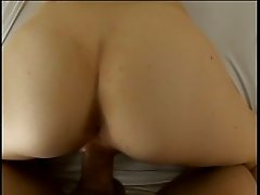 Hot chick manages to fit big cock in her mouth