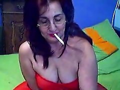 Fat Grandma From Greece Masturbates