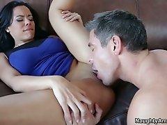 Frisky brunette Luna Star enjoys pussy licking