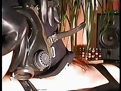 Playing with the gasmask.......and the penis!