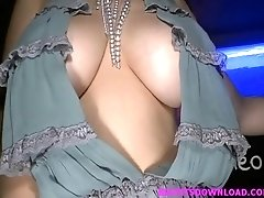 Big tits asian dancing at the disco