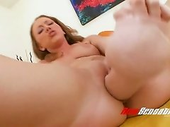 Leighlani Red's insatiable pussy swallows gigantic sex toy