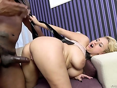 Sexy milf sure loves a big piece of black cock in her fanny