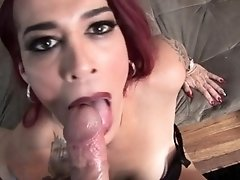 Mature casting ts sucking dick in POV