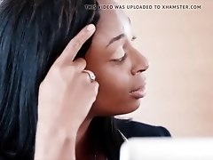 rich real estate agent ebony fucks her personal chef