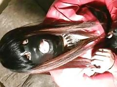 Mistress Jade leathered up and smoking wants to bust balls