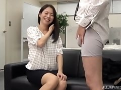 Japanese chick likes when a naughty friend sucks her nipples