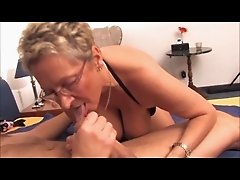 Hottie BBW Mature Blonde Gets Cum on Face