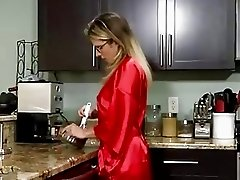 Delicious blonde mom gets fucked by a boy doggy style
