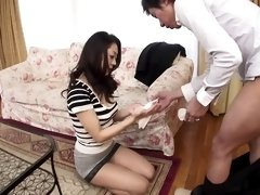 Hungry japanese girl loves cock in her mouth