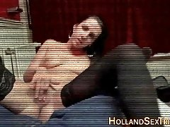 Real hooker masturbating